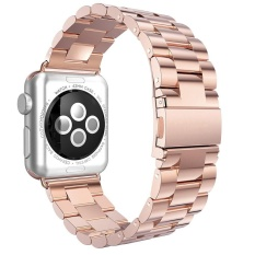 Discounted Niceeshop Apple Watch Band Solid Stainless Steel Replacement Strap Polished Metal Watchband With Folding Clasp For Apple Watch 38Mm Rose Gold Intl