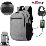 Buy Niceeshop Business Laptop Backpack Travel Backpacks 15 6 Inch Slim Computer Bag For Men Women Water Repellent Anti Theft College Sch**l Bookbag Daypack With Usb Charging Headphone Port Grey Intl Cheap China