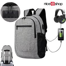 Niceeshop Business Laptop Backpack Travel Backpacks 15 6 Inch Slim Computer Bag For Men Women Water Repellent Anti Theft College Sch**l Bookbag Daypack With Usb Charging Headphone Port Grey Intl Niceeshop Cheap On China