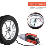 Price Niceeshop Car Vacuum Cleaner High Power 120W Dc 12V Portable Handheld Car Vacuum Wet Dry Suction Auto Vacuum Cleaner Tools With 16Ft Power Cord With Tire Inflator Tire Pressure Gauge Red Intl Niceeshop