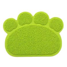 Niceeshop Dog Paw Shape Feeding Cat Litter Mat Non-Slip Pvc Pet Dog Dish Water Bowl Easy Clean-Premium And Soft Mats. - Intl By Nicee Shop.