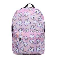 Niceeshop Large Capacity Unicorn Print Backpack Lightweight Outdoor Backpack Shoulder Bag School Supplies - Intl By Nicee Shop.