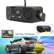 Price Night Vision Camera Monitor 2Led Car Rear View Camera With Radar Parking Sensor Intl Not Specified