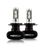 Nighteye 4000Lm H4 9007 Car Auto Led Headlight Replace Lamp Bulbs Bright Intl Online