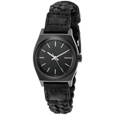Purchase Nixon Womens A5092053 Small Time Teller Leather Black Watch Intl Online
