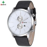 Buying North Men Business Watch Famous Brand Design Male Clock 30M Waterproof Casual Genuine Leather Quartz Fashion Casual Watch Men 6008 Intl