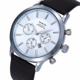 North Sports Luxury Mens Genuine Leather Quartz Wrist Watch White Navy Singapore