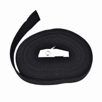Nylon Pack Cam Tie Down Strap Lash Luggage Bag Belt Metal Buckle 25mm*3M