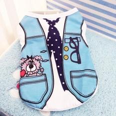 Ocean New Pet Apparel Pet Vest Dog Clothes Lovely Shirts(blue-Xxl) - Intl By Ocean Shopping Mall.