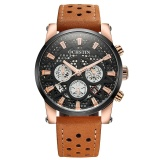 Best Price Ochstin 2017 Brand Luxury Genuine Leather Quartz Skeleton Men Watches Luminous Water Proof Man Casual Wristwatch Calendar Box Intl