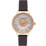Where To Shop For Olivia Burton Ob15Eg38 3D Daisy Black Gold Watch