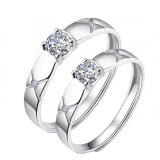 One Pair Couple Rings Silverl Wedding Bands Promise Love Frost Gifts Rings Oem Discount