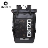 Best Reviews Of Ozuko Waterproof Oxford 15 Inch Laptop Backpack Large Capacity Business Backpack Casual Travel Bag Fashion Sch**L Bag Outdoor Sport Bag Camouflage Intl
