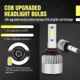 Low Cost Pack Of 2 Cob Led Auto Car Headlight 40W 10000Lm All In One Car Led Headlights Bulb Fog Light White 6000K Head Lamp H1 H4 H7 H8 H9 H10 H11 H13 Hb1 Hb5 9003 9008 Models 9006 Hb4 Intl