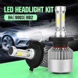 Pack Of 2 Cob Led Auto Car Headlight 40W 10000Lm All In One Car Led Headlights Bulb Fog Light White 6000K Head Lamp H1 H4 H7 H8 H9 H10 H11 H13 Hb1 Hb5 9003 9008 Models H4 Hb2 9003 Intl Price