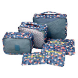 Packing Pouches Travel Packing Cubes Bags Clothes Organiser Bags Suitcase Storage Cubes Bags Travel Packing Luggage Accessories Luggage Organiser Zip Bags 6 Piece Set Blue Intl Shop