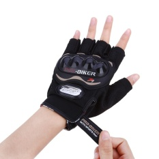 Sale Paired Half Finger Motorcycle Gloves Motorbike Outdoor Sports Riding Breathable Protective Gears Xxl Intl China Cheap