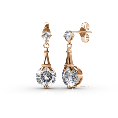 Price Comparisons For Paris Earrings Rose Gold Crystals From Swarovski®