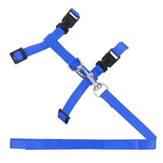 Pet Cat Rabbit Durable Nylon Outdoor Collar Chest Strap Traction Harness (blue) - Intl By Crystalawaking.