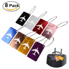 Pixnox 8pcs Aluminum Air Plane Pattern Luggage Tag Baggage Handbag Id Tag Name Card Holder With Key Ring - Intl By Pickegg.