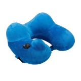 Best Deal Portable Automatic Inflatable U Shape Neck Nursing Travel Office Nap Pillow Blue Intl
