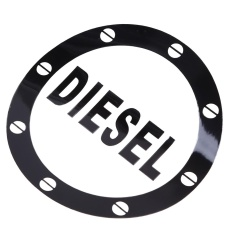 Possbay Cool Black Car Auto Decal Sticker Fuel Tank Stickers Vehicles Decoration - intl