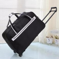 Retail Price Premium Black Foldable Travel Luggage Suitcase Lightweight Winter Travel Overseas Trolley Bag