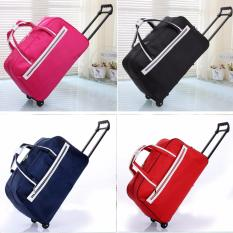 Best Price Premium Red Foldable Travel Luggage Suitcase Lightweight Winter Travel Overseas Trolley Bag