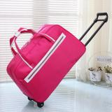 How To Get Premium Red Foldable Travel Luggage Suitcase Lightweight Winter Travel Overseas Trolley Bag