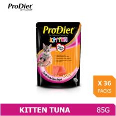 Cheaper Prodiet 85G Wet Kitten Food Fresh Tuna Flavour X 36 Packs