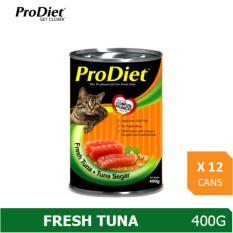 Sale Prodiet 400G Wet Cat Food Fresh Tuna Flavour X 12 Cans Prodiet Branded