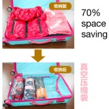 Discount Promo 10Pcs Travel Organizers Handroll Vacuum Compression Storage Bags Intl Not Specified China