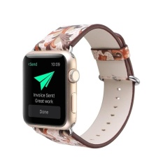 Pteris Leather Strap Replacement Watch Band For Apple Watch 38Mm Intl In Stock