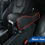 Sale Pu Leather Car Armrest Pad Memory Foam Universal Auto Covers With Phone Pocket Black Red Intl China