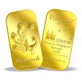 Retail Puregold 2G Deepavali Peacock Gold Bar 999 9