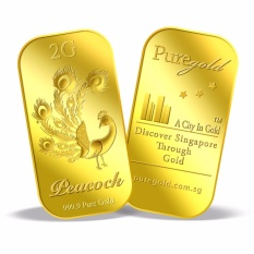Buy Puregold 2G Deepavali Peacock Gold Bar 999 9 On Singapore