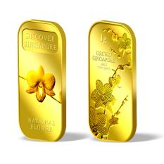 Store Puregold Sg National Flower And Sg Orchid Series 1 Pair Gold Bar 1G X 2 999 9 Puregold On Singapore