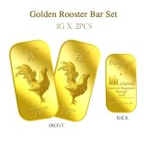 Price Comparisons Of Puregold Singapore Golden Rooster Gold Bar Pair 1G X 2