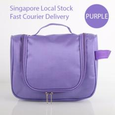 Deals For Purple Cosmetic Bag Travel Organizer Toiletries Bag Hanging Waterproof Free Warranty
