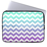 Cheap Purple Turquoise Fade White Chevron Zigzag Pattern Laptop Sleeves Notebook Cover Or 13 Inch Intl