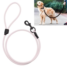 Latest Pvc Material Wear Resistant Waterproof Traction Belt Pet Dogs Traction Rope With Handle Suitable For Medium And Large Dogs Rope Length 150 Cm White Intl