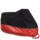 Price Q Shop Motorcycle Motorbike Waterproof Cover Protector Case Cover Rain Protection Breathable(Black Red,Xxl) Intl Oem