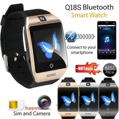 Q18 Bluetooth Smart Wrist Watch Sim Slot Gsm Call Nfc Fitness For Android Ios Intl Lowest Price