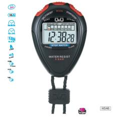 Q Q Stop Watch Hs 46 Water 5 Bar Resist 10 Years Battery Black On Singapore