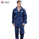 Rainfreem Impermeable Raincoat Women Men Hood Rain Poncho Waterproof Rain Jackets Pants Suit Rainwear Men Motorcycle Rain Gear Navy Blue M Size Intl Shop