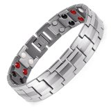 Discount Rainso Fashion Jewelry Healing Fir Magnetic Titanium Bio Energy Bracelet For Men Blood Pressure Accessory 8 5 Silver Bracelets Intl Oem On China