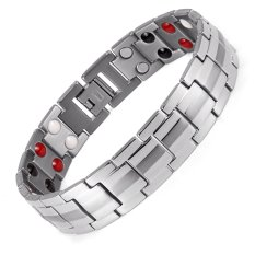 Best Reviews Of Rainso Fashion Jewelry Healing Fir Magnetic Titanium Bio Energy Bracelet For Men Blood Pressure Accessory 8 5 Silver Bracelets Intl