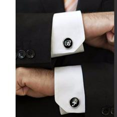 Best Rated Rc Global Tailor Made Mens Business Shirt Shirt Cufflinks With Name Initials 个性化法式衬衫袖扣)
