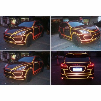 Reflective warning stickers with security logo body paste 2cm * 5m Yellow