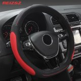 Price Compare Reizsz High Grade Microfiber Leather Luxury Car Steering Wheel Cover Universal Protect Case For Car 38Cm 15 Inch M Size Intl